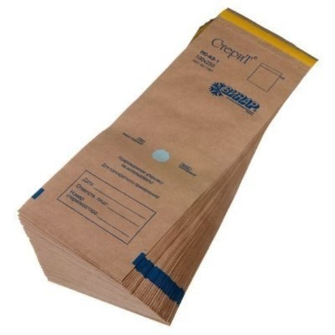 Крафт-пакеты для стерилизации 100*350, 100 шт - фото 15125