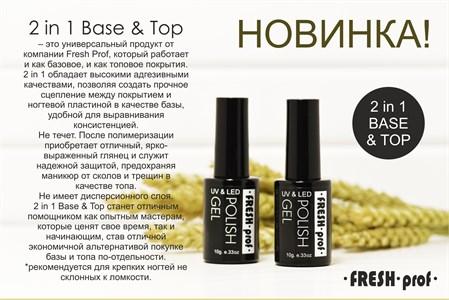 Основа+топ Fresh Prof  2в1 Кремний, 8 мл