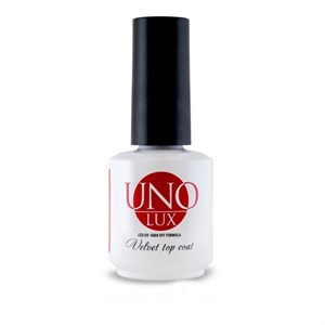 Верхнее покрытие  Uno Lux Velvet Top Coat , 15 мл.