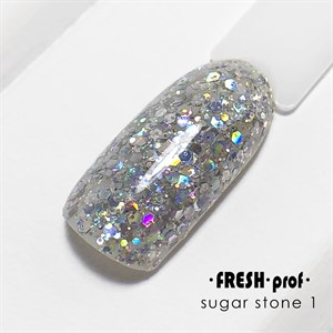 Гель Sugar stones Fresh prof №01, 5 гр