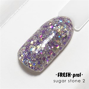 Гель Sugar stones Fresh prof №02, 5 гр
