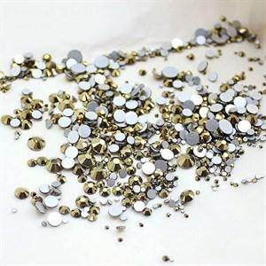 Стразы SS 4-12 золото//, пакет 1680 шт