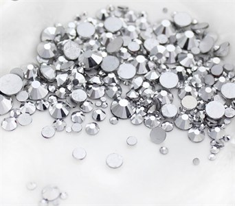 Стразы SS 4-12 серебро//, пакет 1680 шт