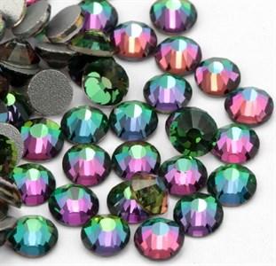 Стразы SS 4-12 хамелион зелено-фиолетовый//, пакет 1680 шт