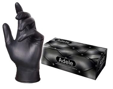 Перчатки Adele нитриловые XS черные, 50 пар