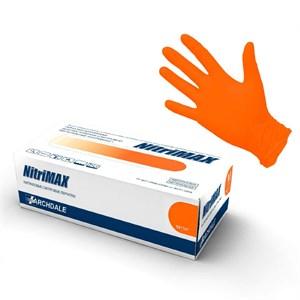 Перчатки NitriMAX нитриловые размер М оранжевые, 50 пар