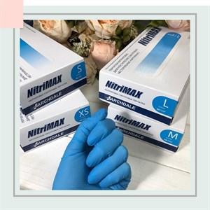 Перчатки NitriMAX нитриловые размер S голубые, 50 пар