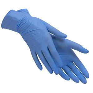 Перчатки нитриловые размер S, голубые 1 пара