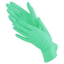 Перчатки нитриловые размер M, зеленые 1 пара