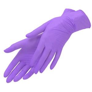 Перчатки нитриловые размер M, сиреневые 1 пара