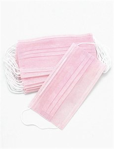 Маска одноразовая розовая, 1 шт