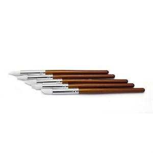 Кисть силиконовая  TNL  деревянная ручка, 1 шт