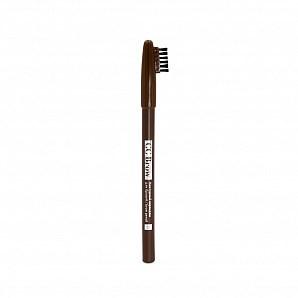 Контурный карандаш для бровей brow pencil CC Brow, цвет 01 (серо-черный)