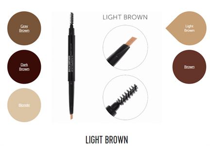 Механический карандаш для бровей со щеточкой Brow Definer (light brown) цвет светло-коричневый