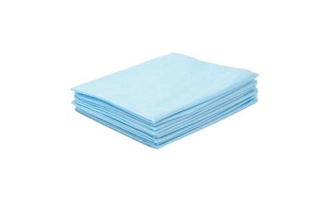 Салфетки Jess Nail  40*40 см голубые, 100 шт