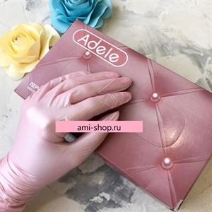 Перчатки Adele нитриловые S розовый перламутр, 50 пар