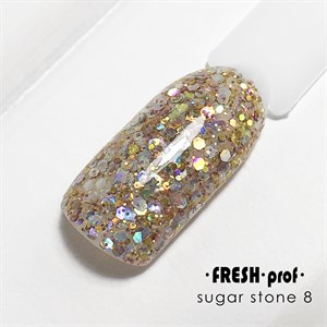 Гель Sugar stones Fresh prof №08, 5 гр