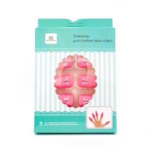 Зажимы TNL для снятия гель-лака (10 шт/упак) розовые