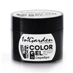 Гель-краска  InGarden  Color gel 17 Серебро (5г.)