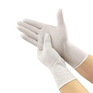 Перчатки нитриловые размер М, белые 1 пара