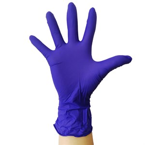 Перчатки нитриловые размер XS, сиреневые 1 пара