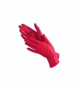Перчатки нитриловые размер M, красные 1 пара