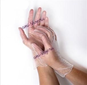 Перчатки виниловые размер М, прозрачные 1 пара