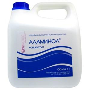 Дезинфицирующее и моющее средство  Аламинол , 3000 мл.