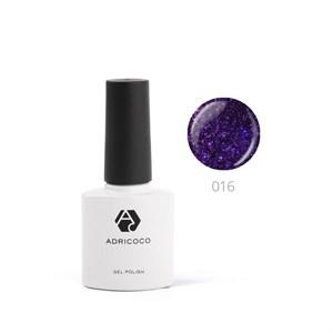 Гель-лак ADRICOCO №016 мерцающий фиолетовый (8 мл.)