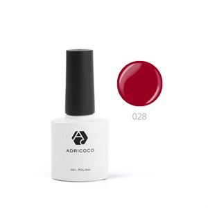 Гель-лак ADRICOCO №028 темно-красный (8 мл.)