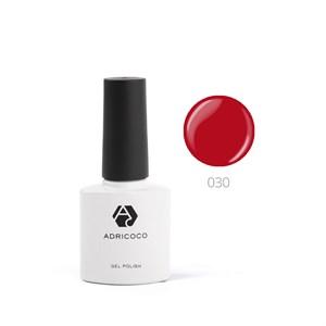 Гель-лак ADRICOCO №030 классический красный (8 мл.)