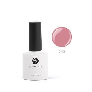Гель-лак ADRICOCO №040 пыльно-розовый (8 мл.)