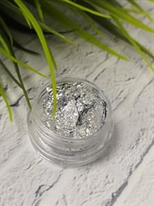 Поталь серебро