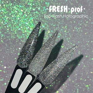 Топ для гель лака Fresh Prof светоотражающий Flash Holographic, 10мл
