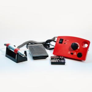Аппарат для маникюра и педикюра Jess Nail JD4500 красный, 35 вт 30000об. (Гарантия 6 мес.)