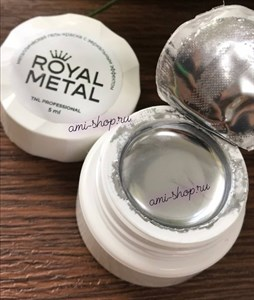 Металлическая гель-краска для дизайна ногтей TNL Royal metal (5 мл.)