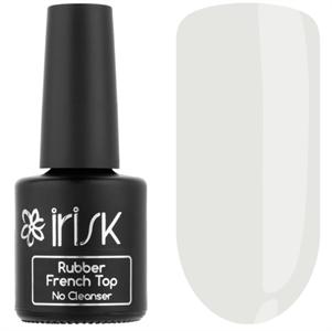 Топ IRISK каучуковый цветной без л/с  Rubber French Top No Cleanser, 10мл (01 Light Milky)