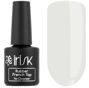 Топ IRISK каучуковый цветной без л/с  Rubber French Top No Cleanser, 10мл (03 Milky Matt)