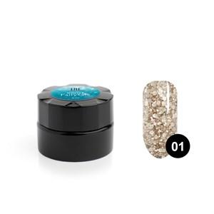Гель для дизайна ногтей «TNL» Winter fairytale №01 Брызги шампанского, 6 мл