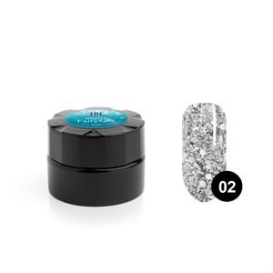 Гель для дизайна ногтей «TNL» Winter fairytale №02 Серебряный снег, 6 мл