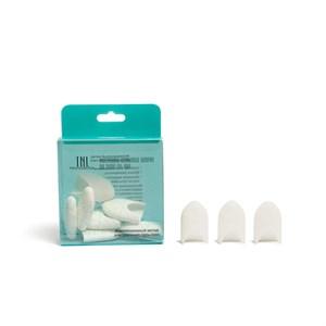 Силиконовые колпачки для снятия гель-лака (10 шт/упак) белые