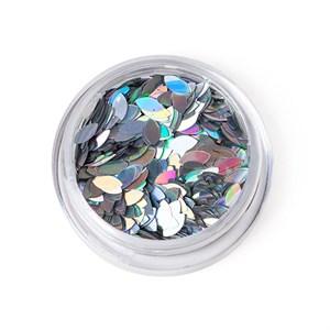 Пайетки  TNL - Лепесток  серебро